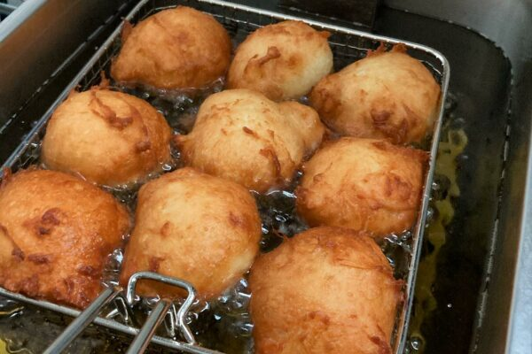 food being fried